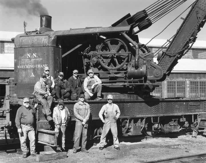 Wrecking Crane & Staff