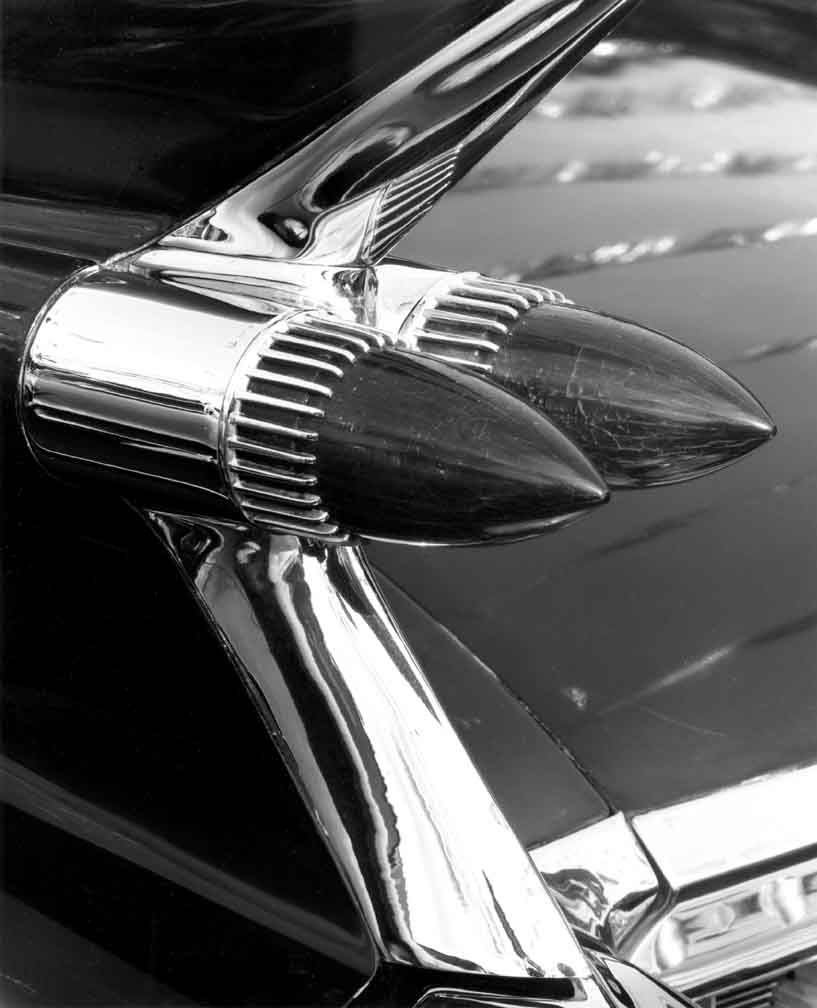 Taillights on Fin, 59 Caddy