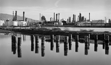 Oil Refinery, Poles & Reflections
