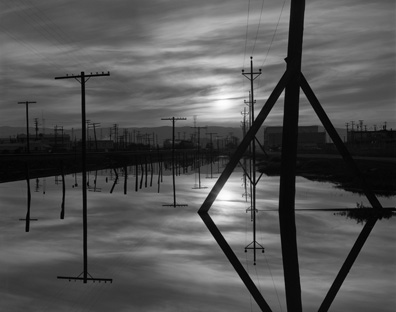Sunset, Poles & Reflections